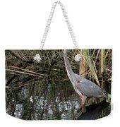 Wading Great Blue Heron Weekender Tote Bag
