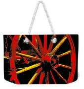 Wagon Wheel In Red Weekender Tote Bag