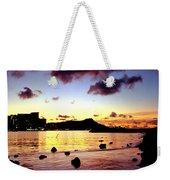 Waikiki Lagoon Dawn Weekender Tote Bag