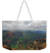 Waimea Canyon Weather Weekender Tote Bag