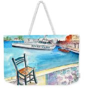 Waiting For Godot In Crete Weekender Tote Bag