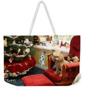 Waiting For Santa Weekender Tote Bag