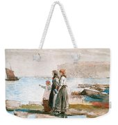 Waiting For The Return Of The Fishing Fleets Weekender Tote Bag