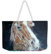 Waiting - Horse Portrait Weekender Tote Bag