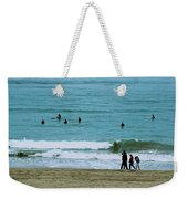 Waiting Surfers Weekender Tote Bag