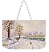 Walk In The Snow Weekender Tote Bag by Lavinia Hamer