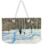Walking The Dog Weekender Tote Bag by Paul Ward