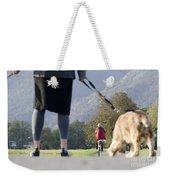 Walking With Her Dogs Weekender Tote Bag