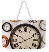 Wall Clocks Weekender Tote Bag