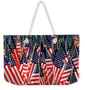 Wall Of Us Flags Weekender Tote Bag