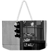 Wall Street And Broadway Weekender Tote Bag