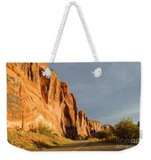 Wall Street Cliff Near Moab Weekender Tote Bag by Gary Whitton
