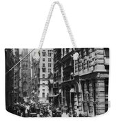 Wall Street Looking Toward Old Trinity Church - New York City - C 1910 Weekender Tote Bag