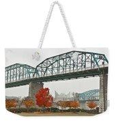 Walnut Street Bridge Weekender Tote Bag by Tom and Pat Cory