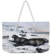 Walruses On Ice Field Weekender Tote Bag