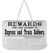 Wanted Poster, 1881 Weekender Tote Bag
