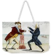 War Of 1812: Cartoon, 1813 Weekender Tote Bag