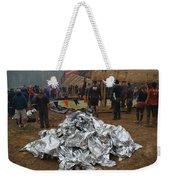 Warm Blankets Piled Weekender Tote Bag