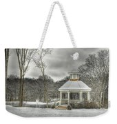 Warm Gazebo On A Cold Day Weekender Tote Bag