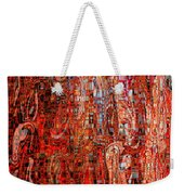 Warm Meets Cool - Abstract Art Weekender Tote Bag