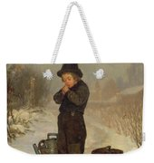 Warming His Hands Weekender Tote Bag