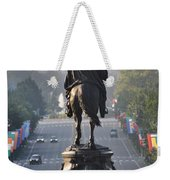Washington Looking Down The Parkway - Philadelphia Weekender Tote Bag by Bill Cannon