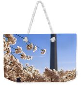 Washington Monument Cherry Trees Weekender Tote Bag