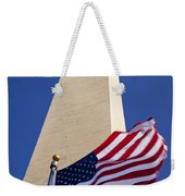 Washington Monument Flag Weekender Tote Bag