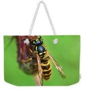 Wasp On Plant Weekender Tote Bag