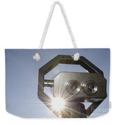 Watching The Sun With A Telescope Weekender Tote Bag