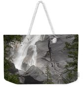 Water Cascading Down The Rock And Weekender Tote Bag