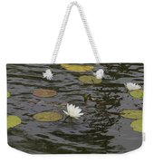 Water Circles On The Lily Pond Weekender Tote Bag