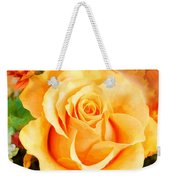 Water Color Yellow Rose With Orange Flower Accents Weekender Tote Bag