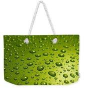 Green Card. Macro Photography Series Weekender Tote Bag
