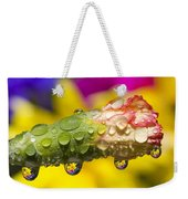 Water Drops On A Budding Flower Weekender Tote Bag