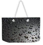 Water Drops On Black Metalica. Business Card. Invitation. Sympathy Note. Weekender Tote Bag