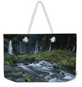 Water Falling And Flowing Over Rocks Weekender Tote Bag