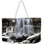 Water Falls At Rock Glen Weekender Tote Bag