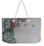 Water Fountain Amidst Garden Weekender Tote Bag