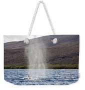 Water From A Whale Blowhole Weekender Tote Bag
