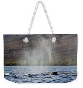Water From A Whale Blowhole II Weekender Tote Bag