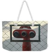 Water Hydrants Built Into A Wire Mesh Fence Weekender Tote Bag