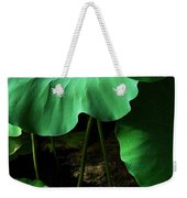 Water Lilies Of Green Weekender Tote Bag