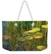 Water Lilies Reflection Weekender Tote Bag