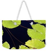 Water Lily Pads And Bloom Weekender Tote Bag