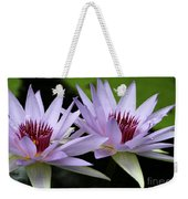Water Lily Twins Weekender Tote Bag