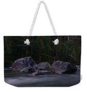 Water Moving Around Rock Weekender Tote Bag