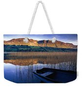 Water Reflections With Boat Weekender Tote Bag