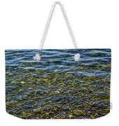 Water Ripples And Reflections On Lake Huron Weekender Tote Bag