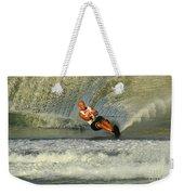 Water Skiing Magic Of Water 4 Weekender Tote Bag by Bob Christopher